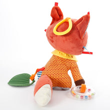 Load image into Gallery viewer, Fox plush toy rattle-teether-clip