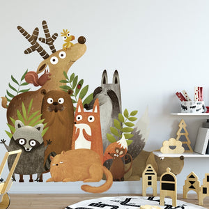 Nordic Forest Animals Wall Sticker