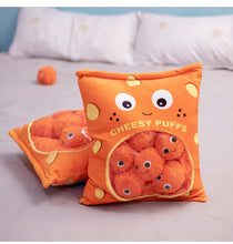 Load image into Gallery viewer, Cheesy puffs counting pillow bag with zipper