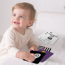 Load image into Gallery viewer, Baby Visual Stimulus High Contrast Black white and colorful Cards for babies 0-12 months