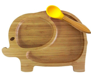 Bamboo suction plate and bowl