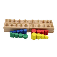 Load image into Gallery viewer, Socket cylinder blocks Montessori educational toy