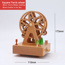 Load image into Gallery viewer, Personalized wood music box with clockwork mechanism