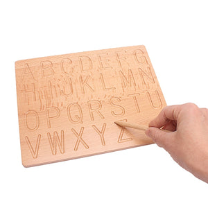 Montessori Alphabet and Numbers tracing board