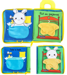 3D Soft cloth daily routine book for babies and toddlers