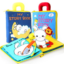Load image into Gallery viewer, 3D Soft cloth daily routine book for babies and toddlers