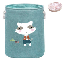 Load image into Gallery viewer, Large Folding Laundry Basket With Lid Toy Storage Baskets Bin For Kids Dog Toys Clothes Organizer Cute Animal Laundry bucket