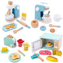 Load image into Gallery viewer, Wooden kitchen machines and tools for pretend play