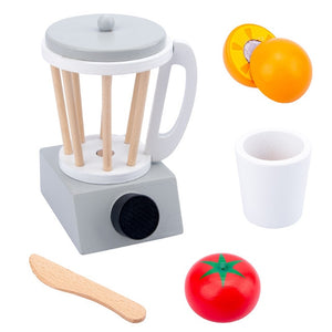 Wooden kitchen machines and tools for pretend play