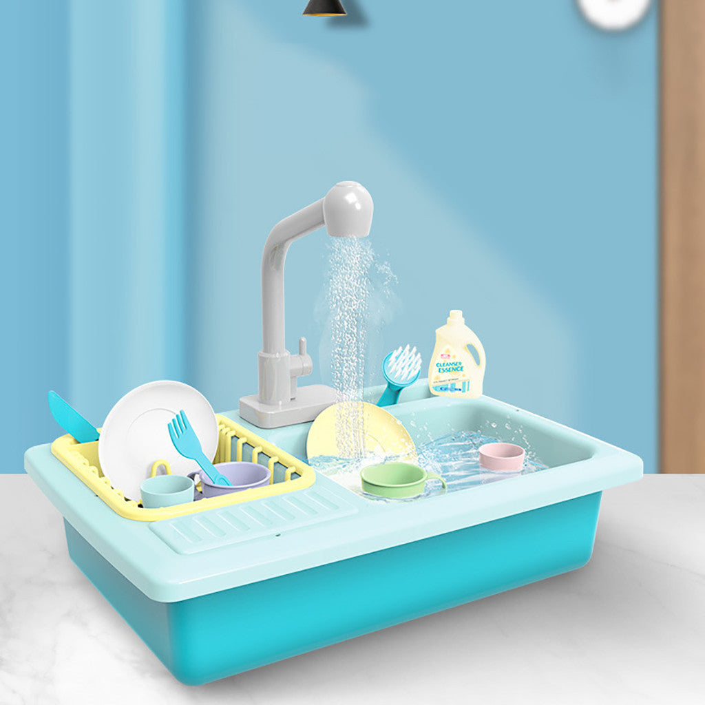 Washing-up kitchen sink for pretend play