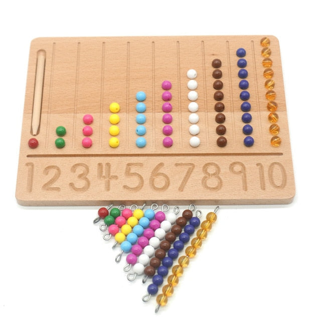Montessori Beads 1-10 Number Tracing