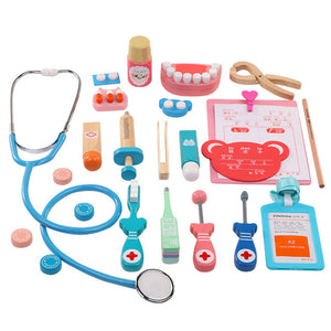 Doctor and dentist wooden kit for pretend play