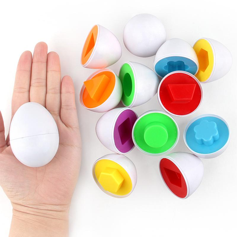 6 Smart Eggs 3D Montessori Learning Puzzle Game