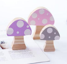 Load image into Gallery viewer, Wooden mushroom Block