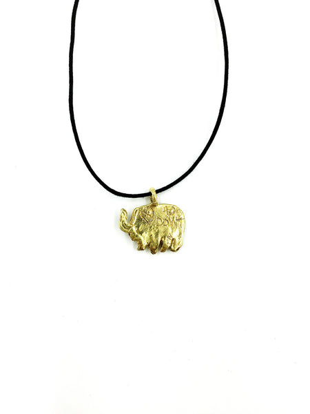 Relief Elephants Necklace