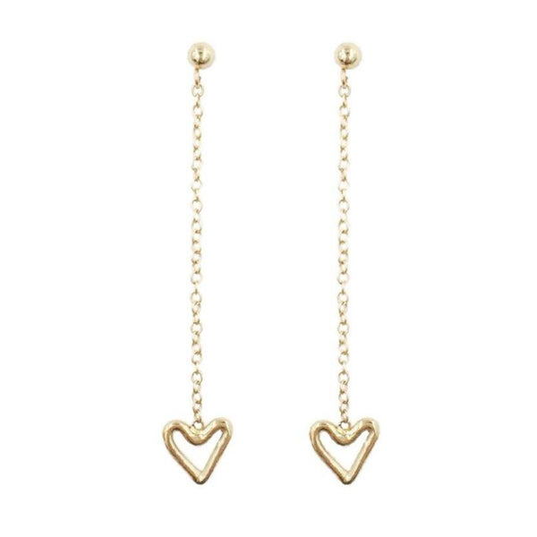 Tiny Heart Dangle Earrings