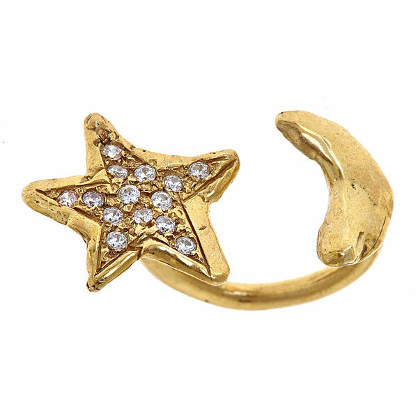 Star to Moon Ring