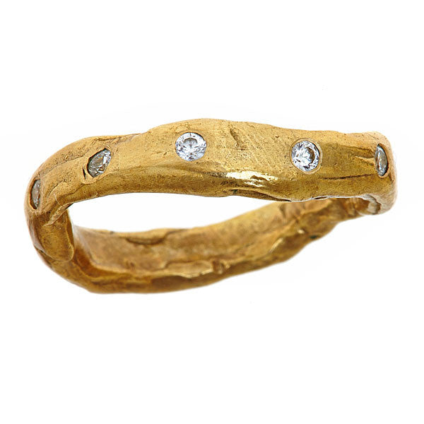 Bezeled Natural Wave Ring