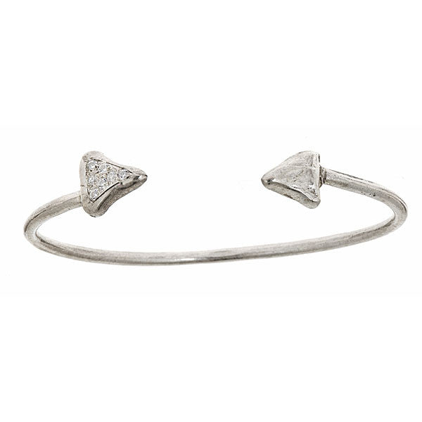 Point To Point Bracelet Cuff with Pave