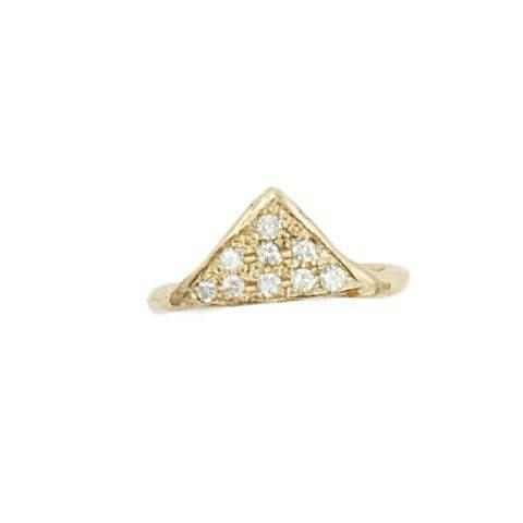 Triangle Ring with stones