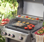 Weber Grilling Basket: Weber Q 100/1000 and larger gas grills, Smokey Joe and larger charcoal grills