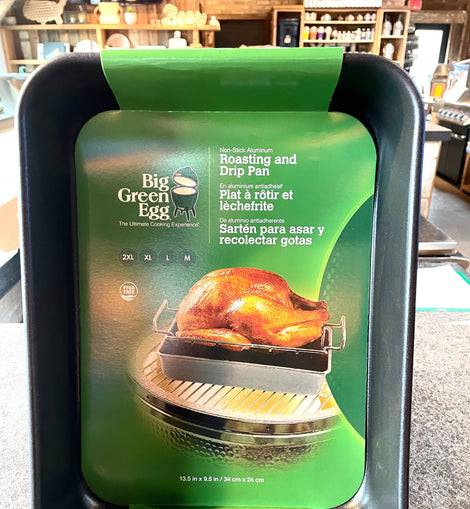 Big Green Egg Rectangular Roasting and Drip Pan