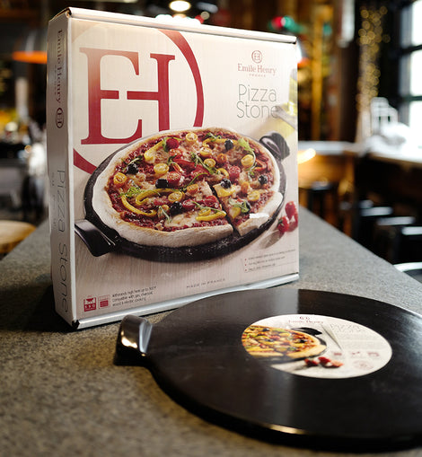 Emile Henry Smooth Pizza Stone, Charcoal, 14