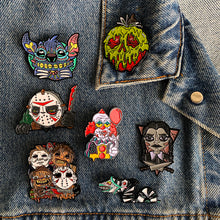 Load image into Gallery viewer, Enamel Pins - Lots of spooky characters - by Save the Panduhs