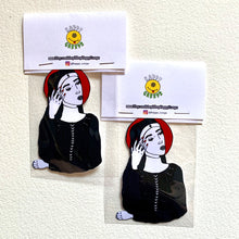 Load image into Gallery viewer, Bad Nun Sticker - by Happy Creeps