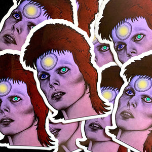 Bowie Sticker - by Sick Sad Girls
