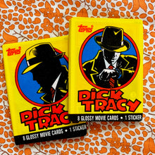 Load image into Gallery viewer, 90's Vintage Dick Tracy Wax Pack Trading Cards
