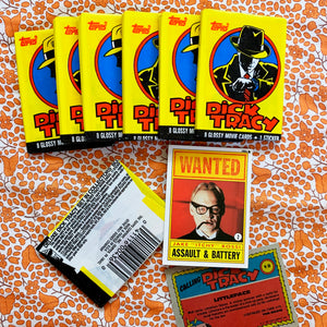 90's Vintage Dick Tracy Wax Pack Trading Cards