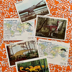 90's Vintage DINOSAURS 'The Mesozoic Era' Trading Cards