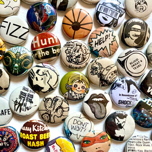 Vintage Magazine Buttons - by Hey Grrrl Collective