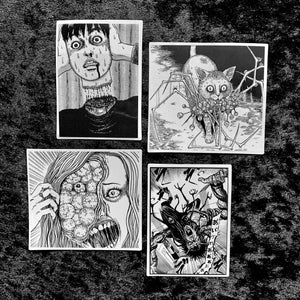 Junji Ito Japanese Horror Manga Stickers Set