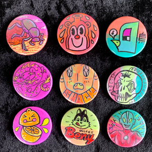 pinback buttons by gina cannella