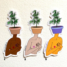 Load image into Gallery viewer, Pot Head Sticker - by Sick Sad Girls