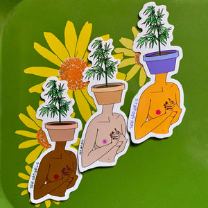 Pot Head Sticker - by Sick Sad Girls