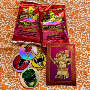 90's Vintage Power Rangers Trading Cards with Pogs