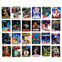 Load image into Gallery viewer, Pulp Sci-Fi Horror Movie Poster Stickers Set