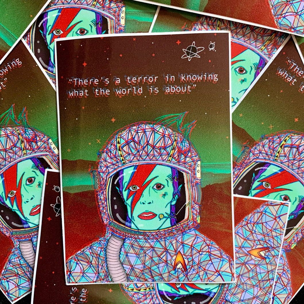 Spiders From Mars Sticker - by Sick Sad Girls