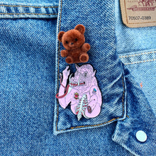 Load image into Gallery viewer, 80's Vintage Teddyboo Fuzzy Pin