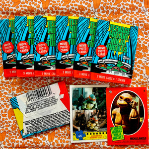 90's Vintage Teenage Mutant Ninja Turtles Wax Pack Trading Cards