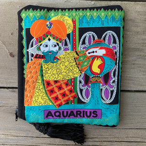 Zodiac Zipper Pouch - Aquarius - by Sewn By Suyon