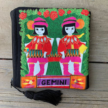 Load image into Gallery viewer, Zodiac Zipper Pouch - Gemini - by Sewn By Suyon