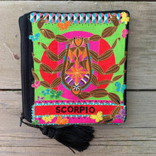 Load image into Gallery viewer, Zodiac Zipper Pouch - Scorpio - by Sewn By Suyon