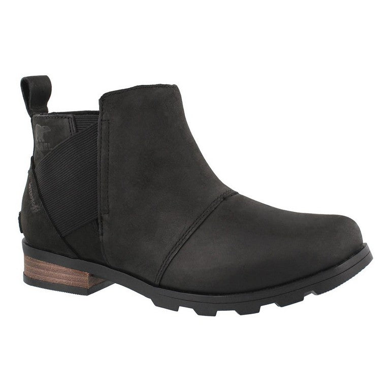 Sorel Emelie Chelsea- Black- WATERPROOF