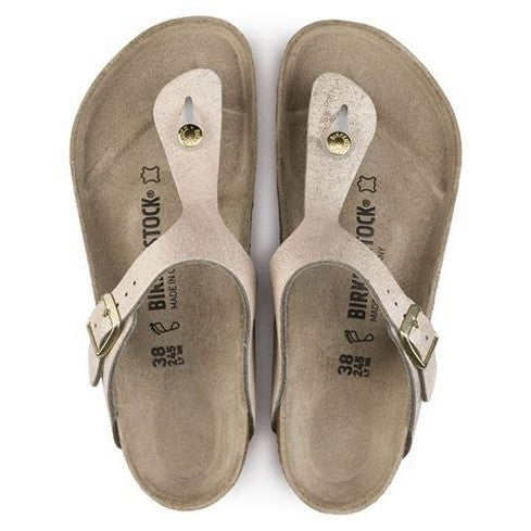 Birkenstock Gizeh, Washed Metallic Rose Gold, Leather (R) 1008793