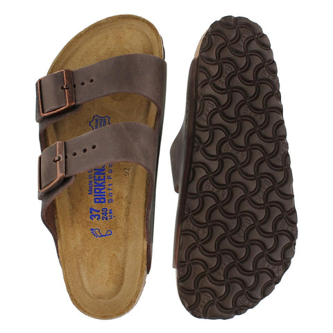 Birkenstock - Arizona - Havana Natural-LTR (MENS)  0452761 SOFT FOOTBED (41-45)