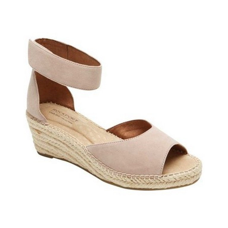 Cobb Hill  Kairi 2 piece Ankle strap Wedge  Espadrille -  Blush CH5377